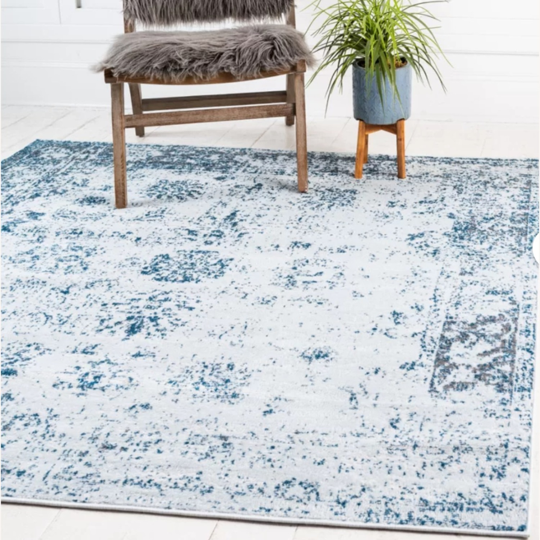 Wayfair Blue and Ivory Rug - image-1
