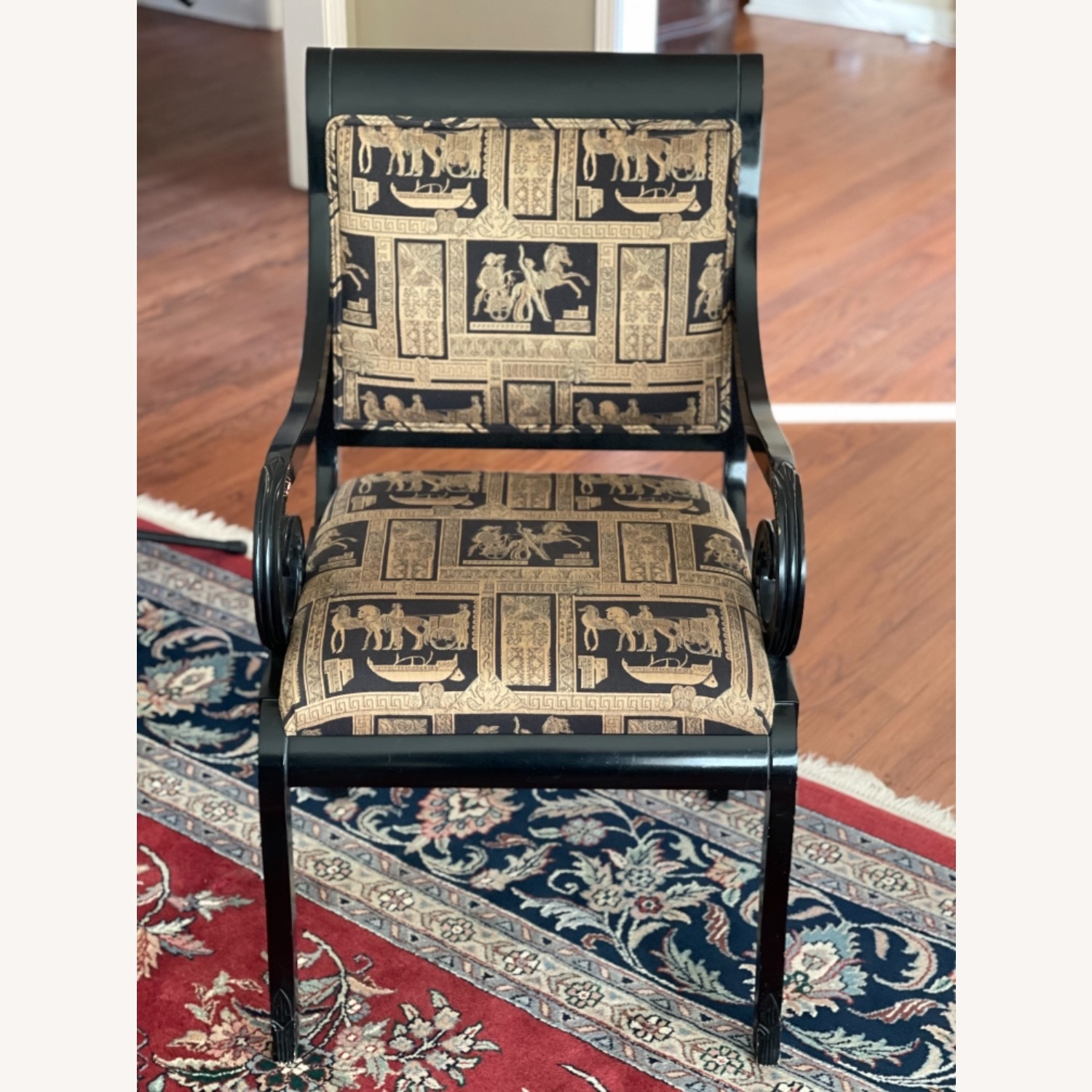 Black Lacquer Chairs - image-1