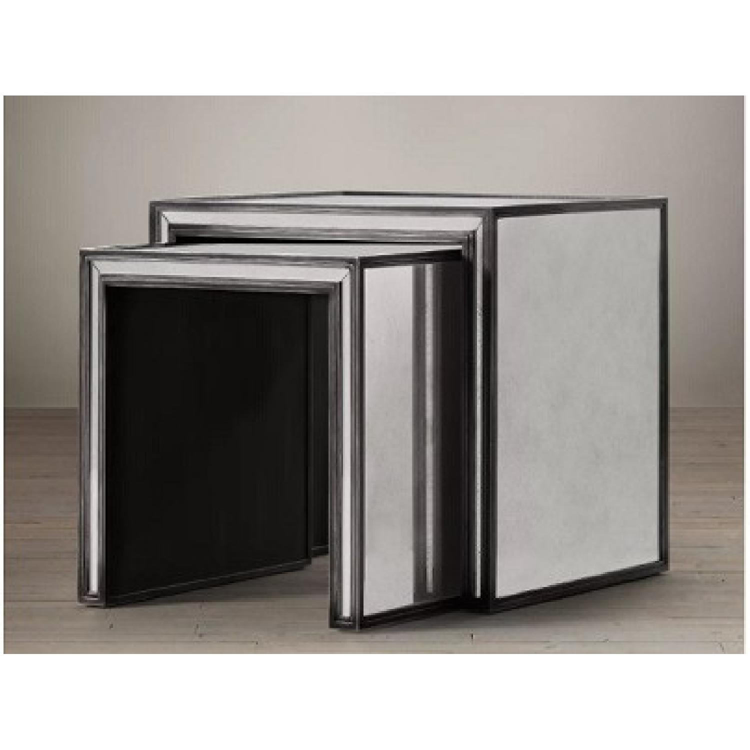 Restoration Hardware Mirrored Nesting Side Tables - image-0