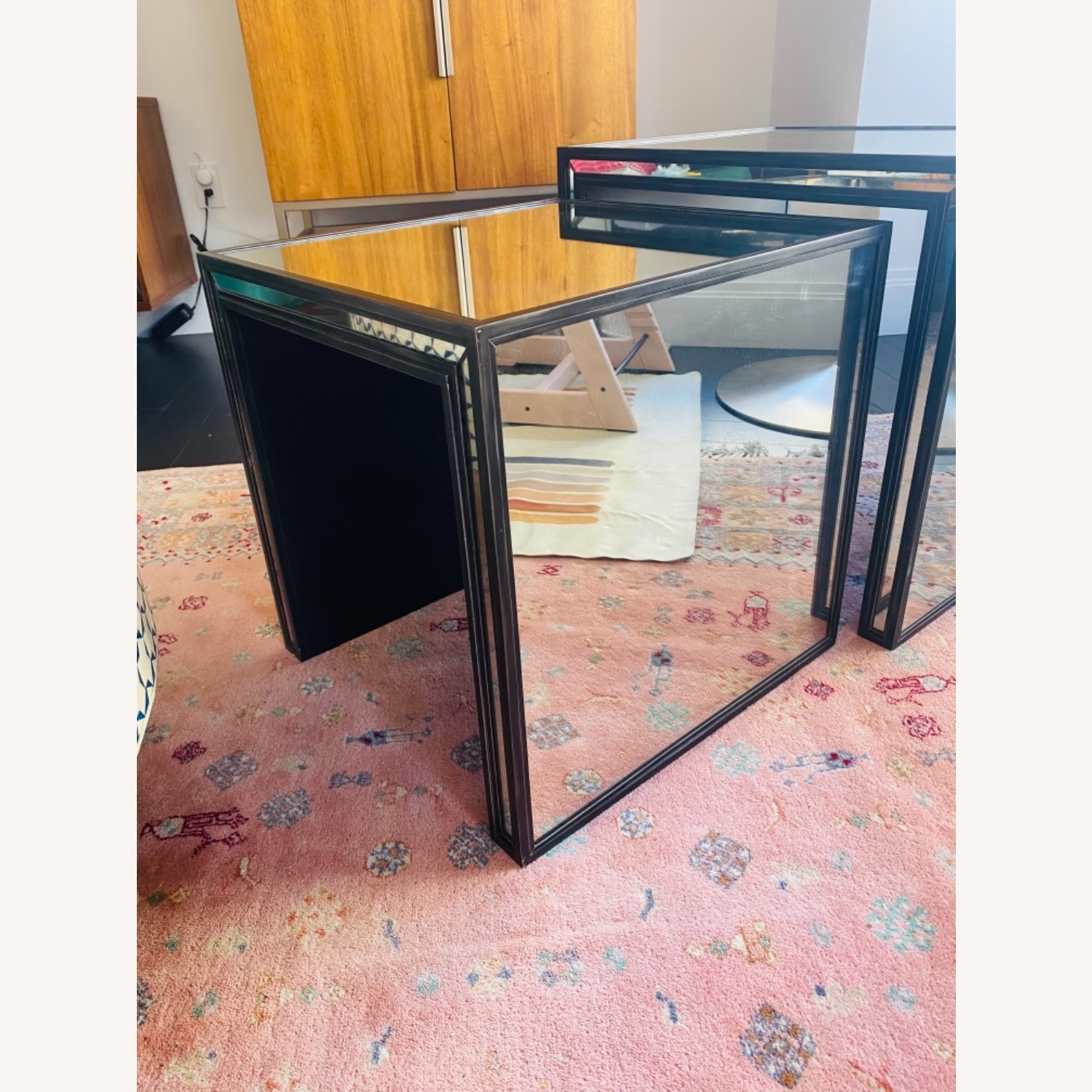Restoration Hardware Mirrored Nesting Side Tables - image-2