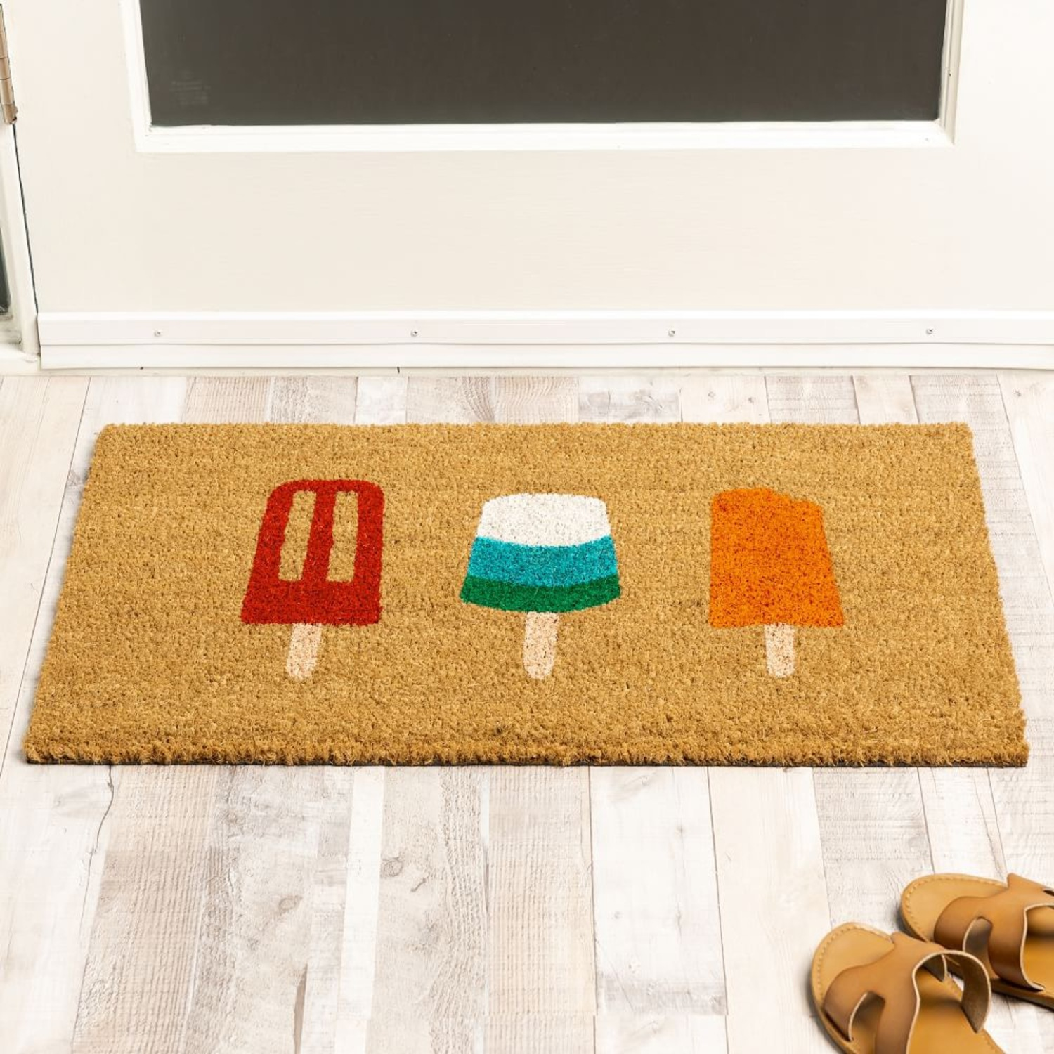 Hand-Painted Popsicle Doormat - image-1