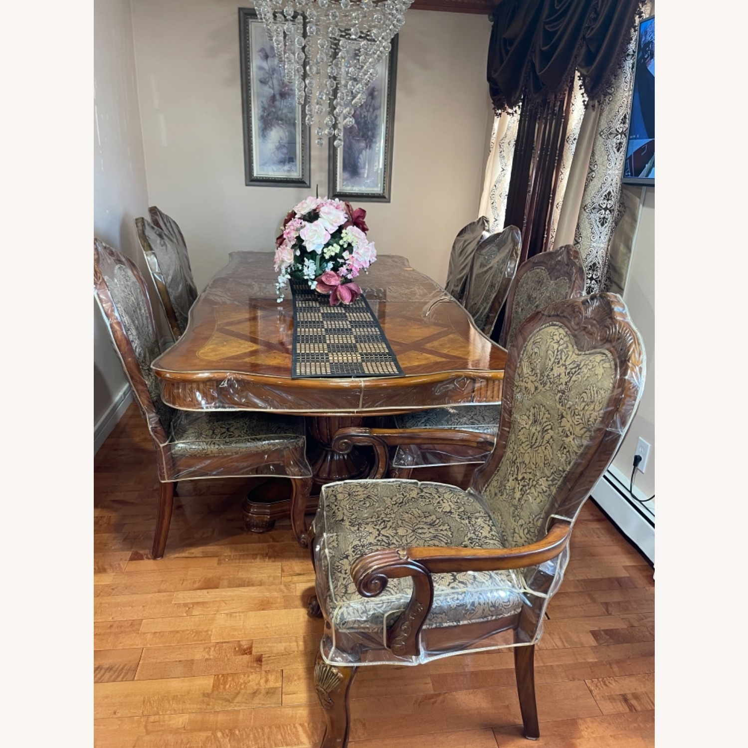 Dining Table Set with 8 Chairs - image-1