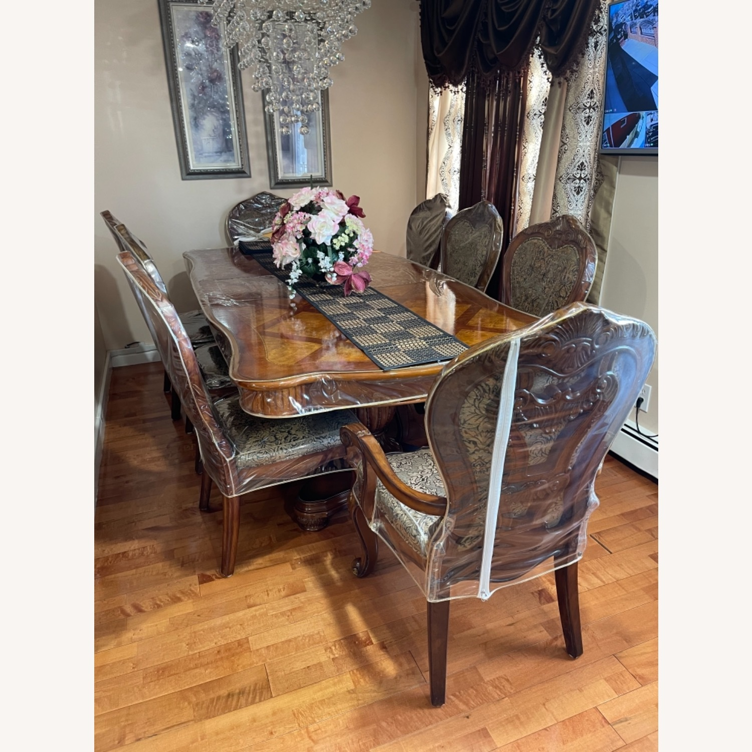 Dining Table Set with 8 Chairs - image-2
