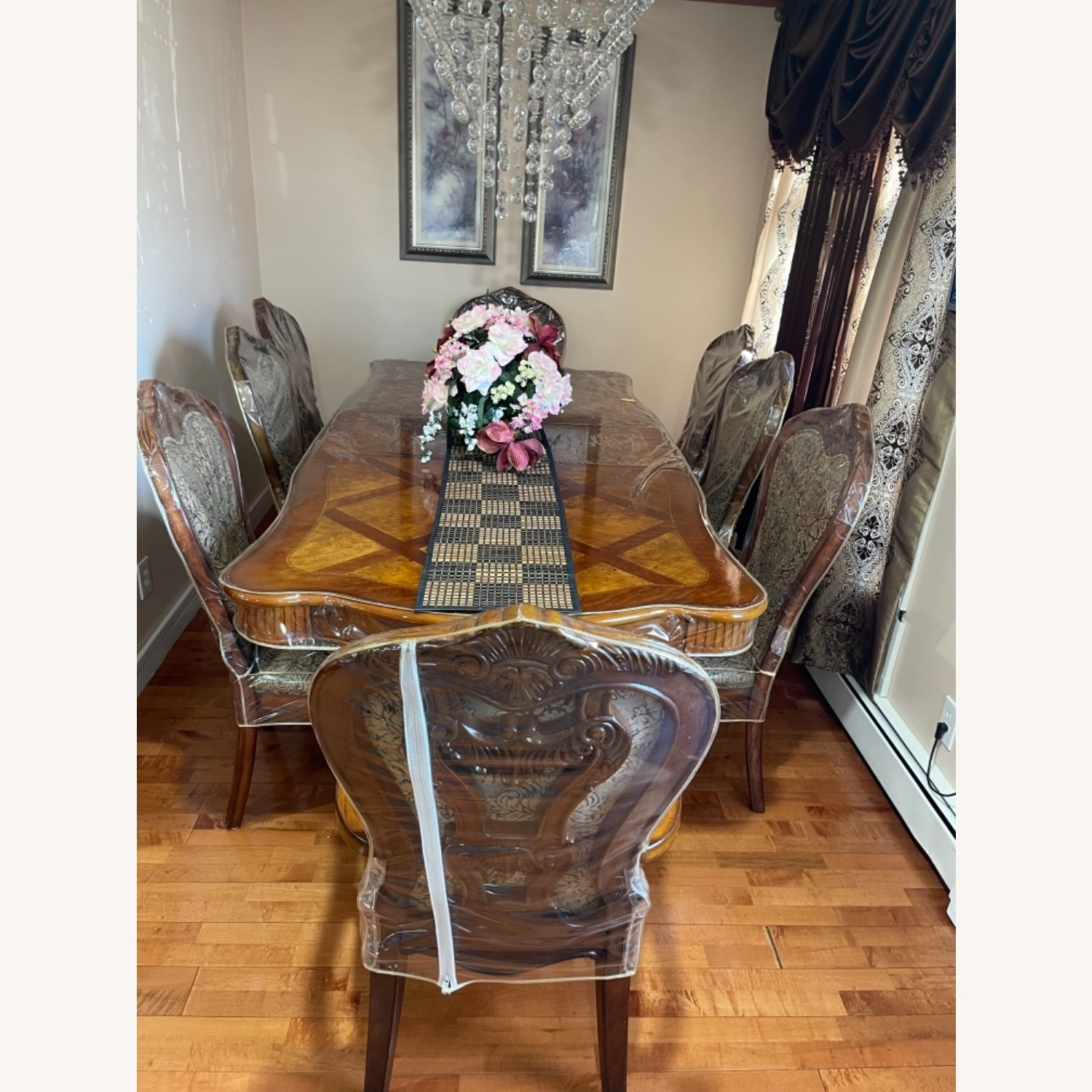 Dining Table Set with 8 Chairs - image-3