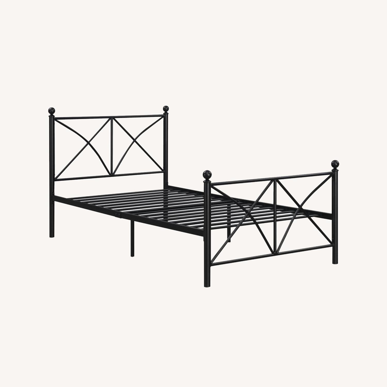 Full Bed In Heavy Gauge Steel Matte Black Finish - image-4