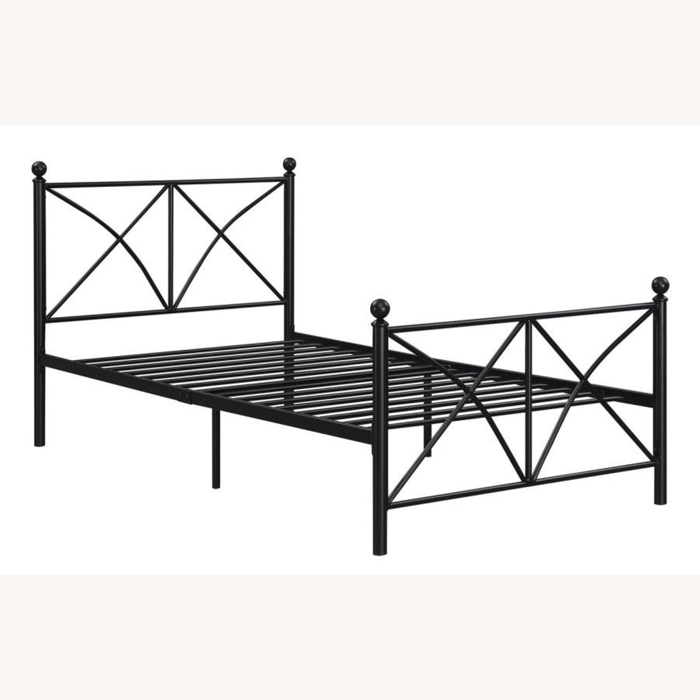 Full Bed In Heavy Gauge Steel Matte Black Finish - image-1