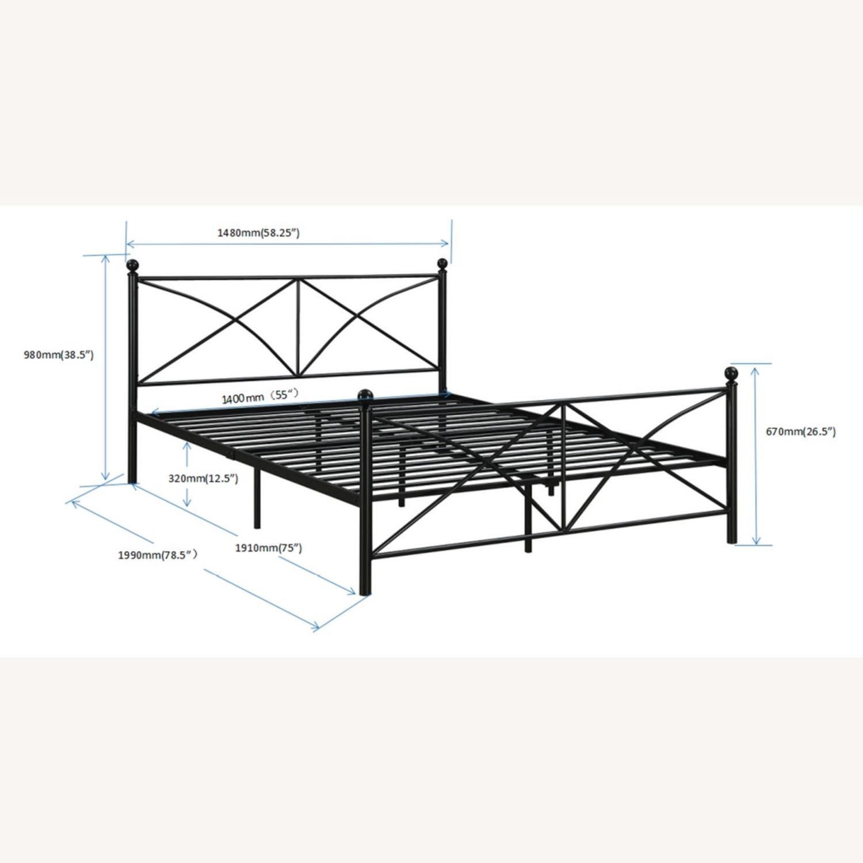Full Bed In Heavy Gauge Steel Matte Black Finish - image-3