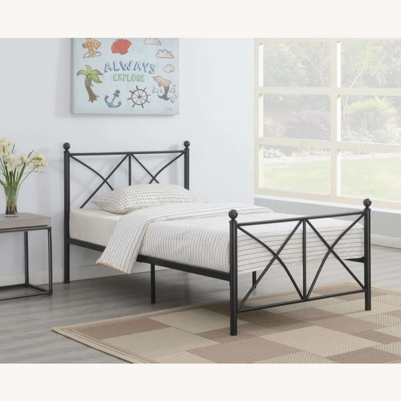 Full Bed In Heavy Gauge Steel Matte Black Finish - image-2