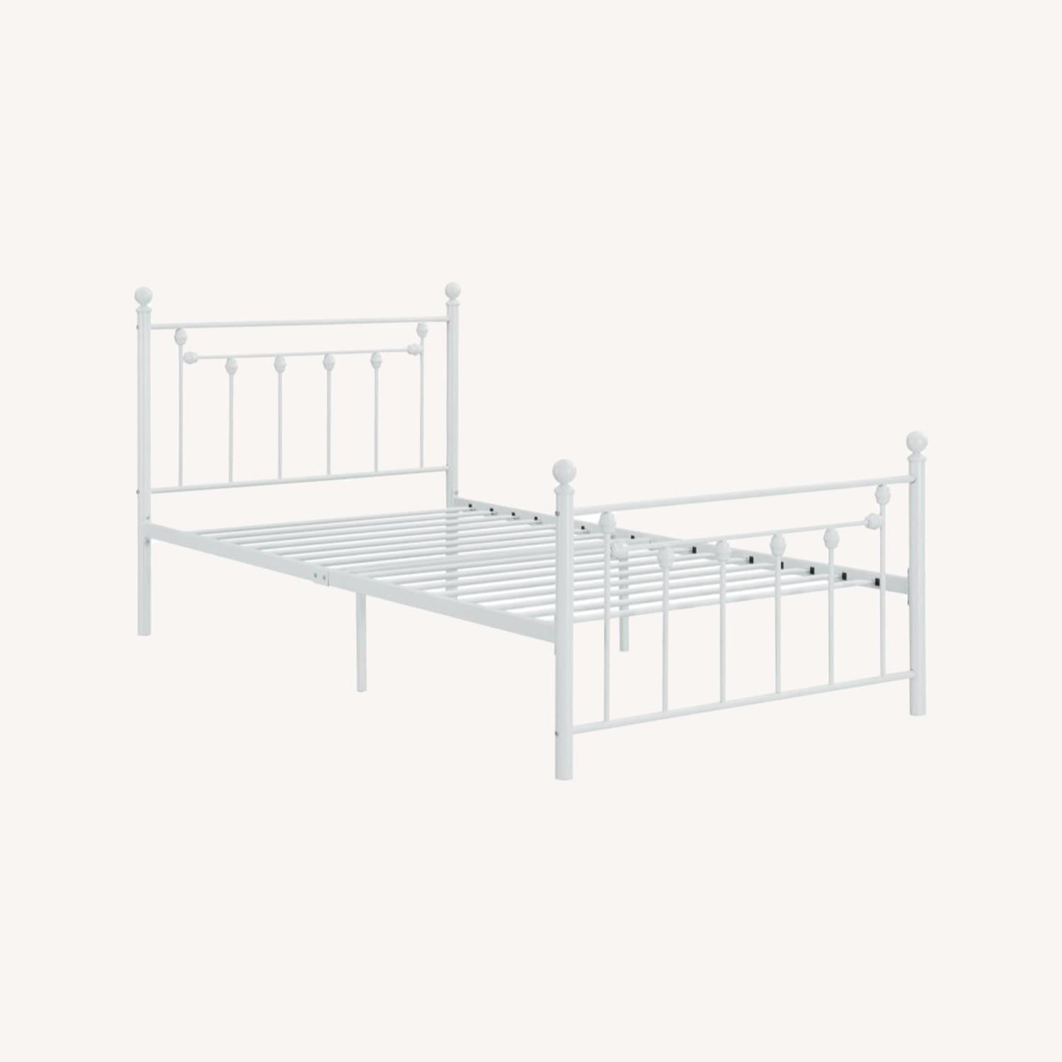 Full Bed In Matte White Powder Coated Finish - image-4