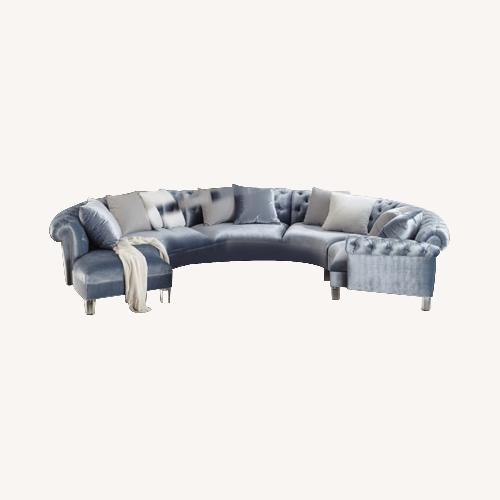 Used Contemporary Elegant Curved Sectional for sale on AptDeco