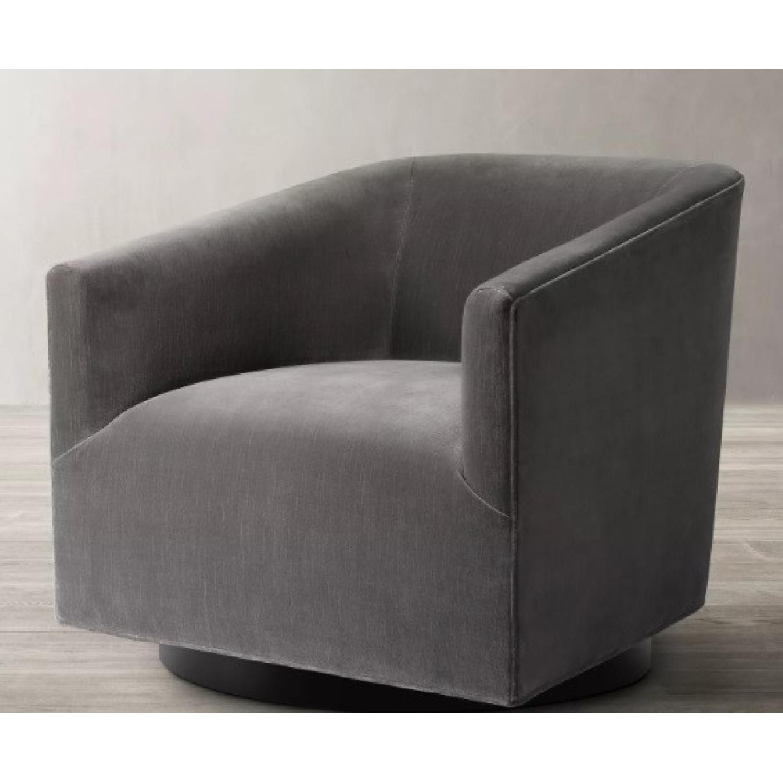 Restoration Hardware Italian Shelter Swivel Chair - image-7