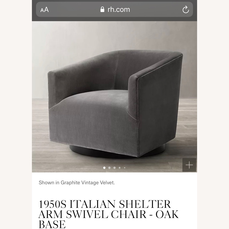 Restoration Hardware Italian Shelter Swivel Chair - image-6