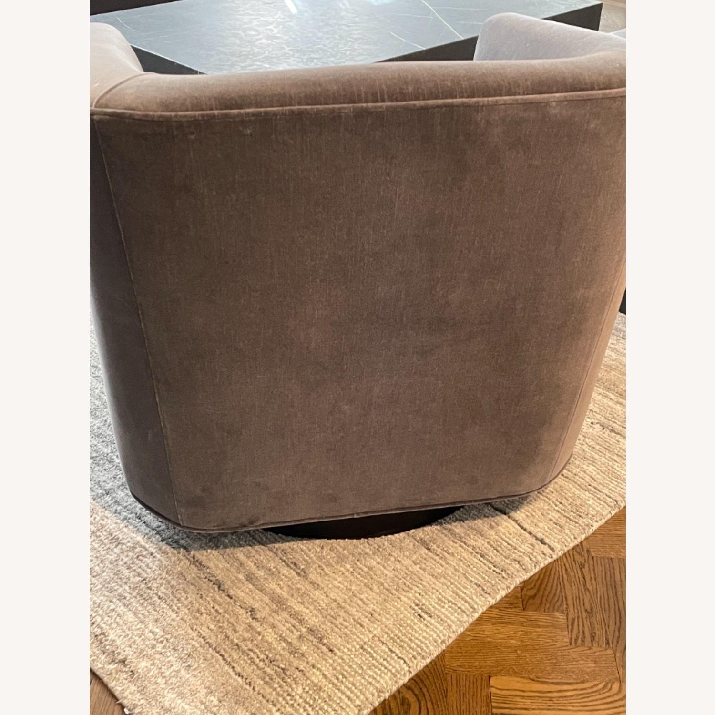 Restoration Hardware Italian Shelter Swivel Chair - image-5