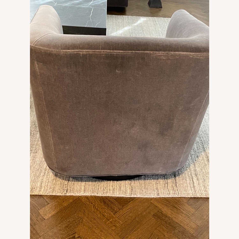 Restoration Hardware Italian Shelter Swivel Chair - image-4