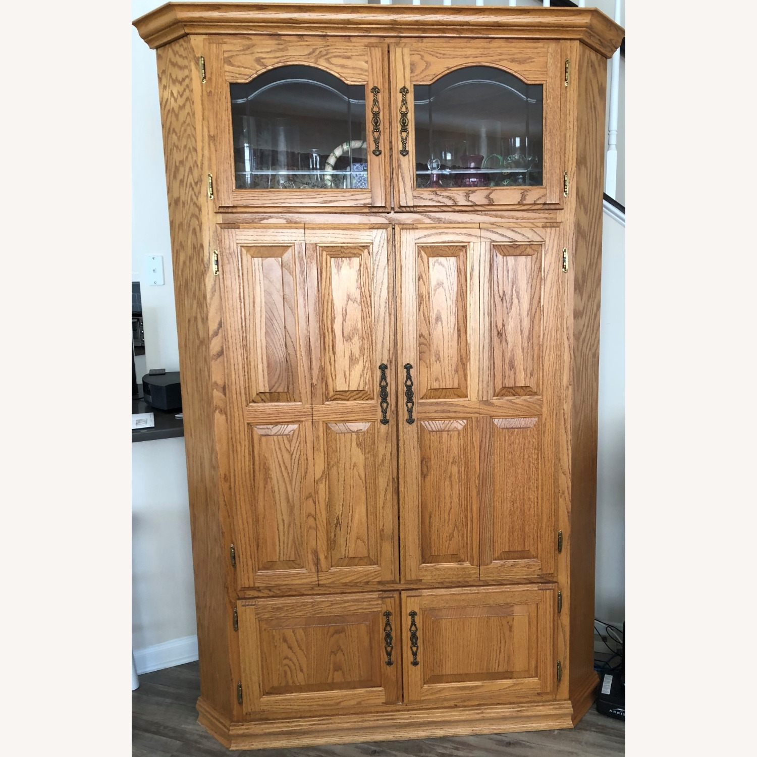 Oak Corner Unit/TV Cabinet - image-2
