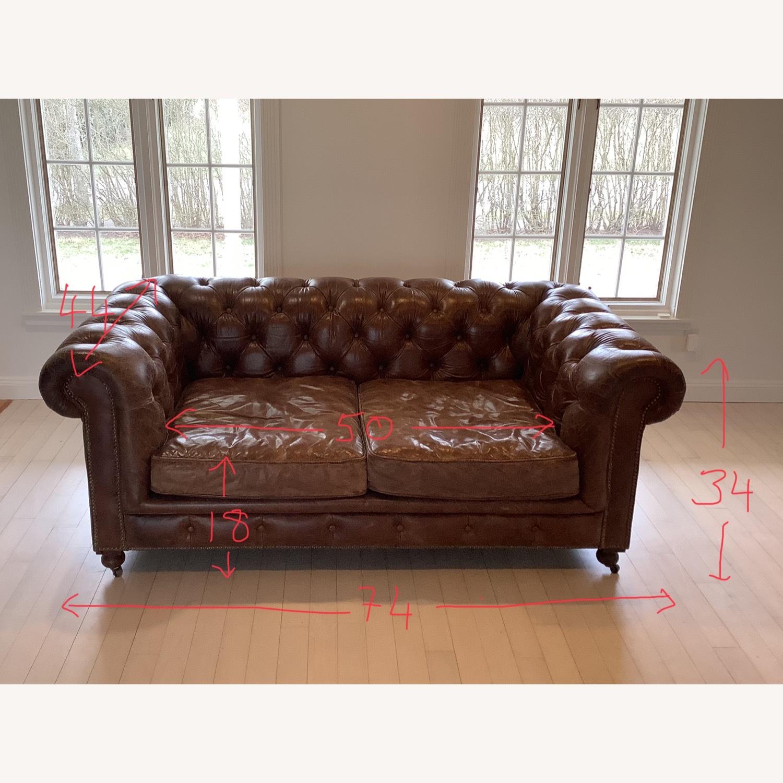 Restoration Hardware Kensington Leather Sofa - image-6