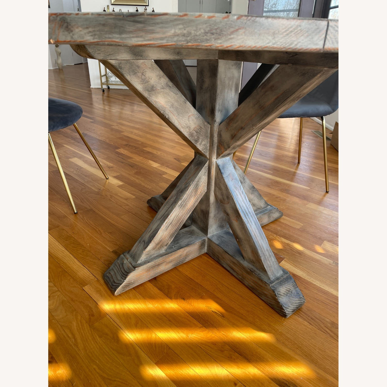Reclaimed Wood Dining Table & 4 Dining Chairs - image-5