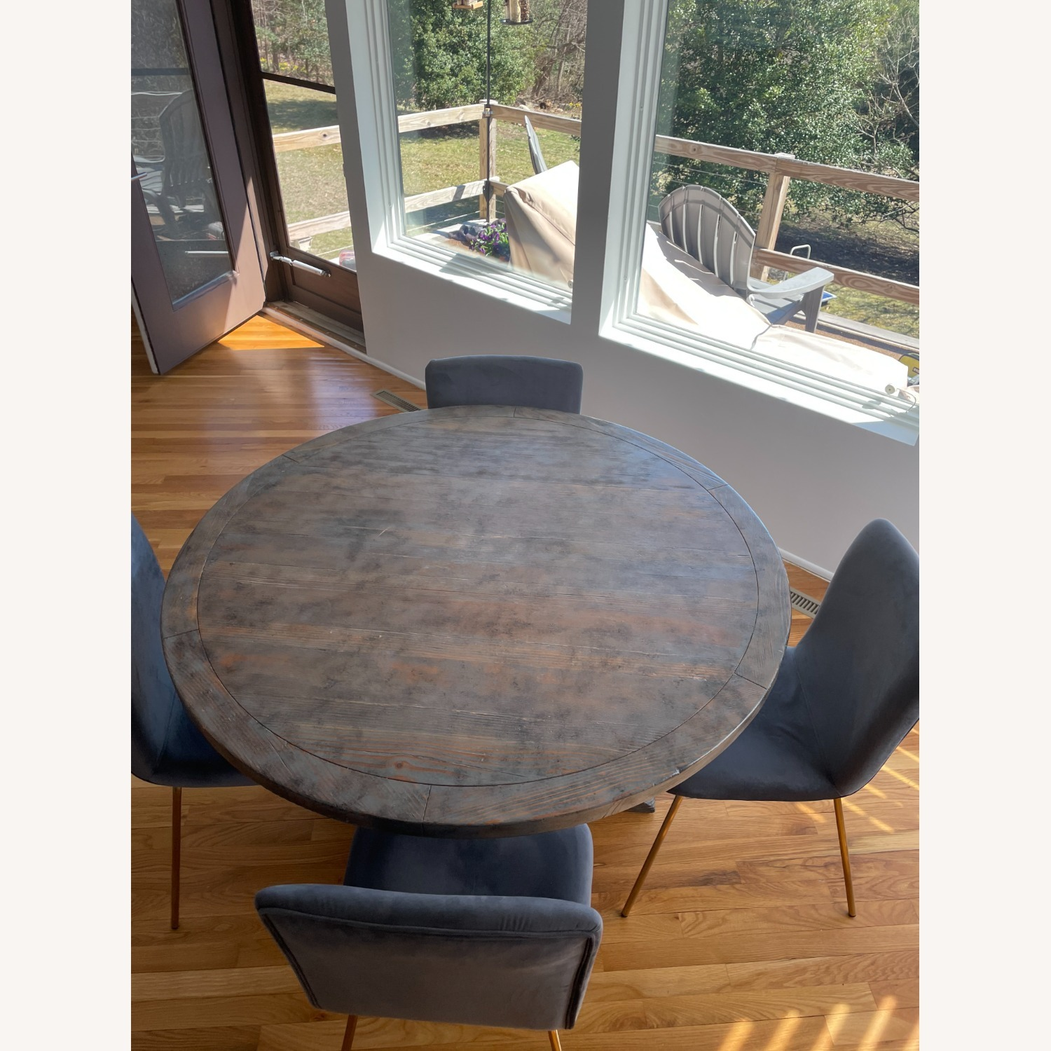 Reclaimed Wood Dining Table & 4 Dining Chairs - image-3