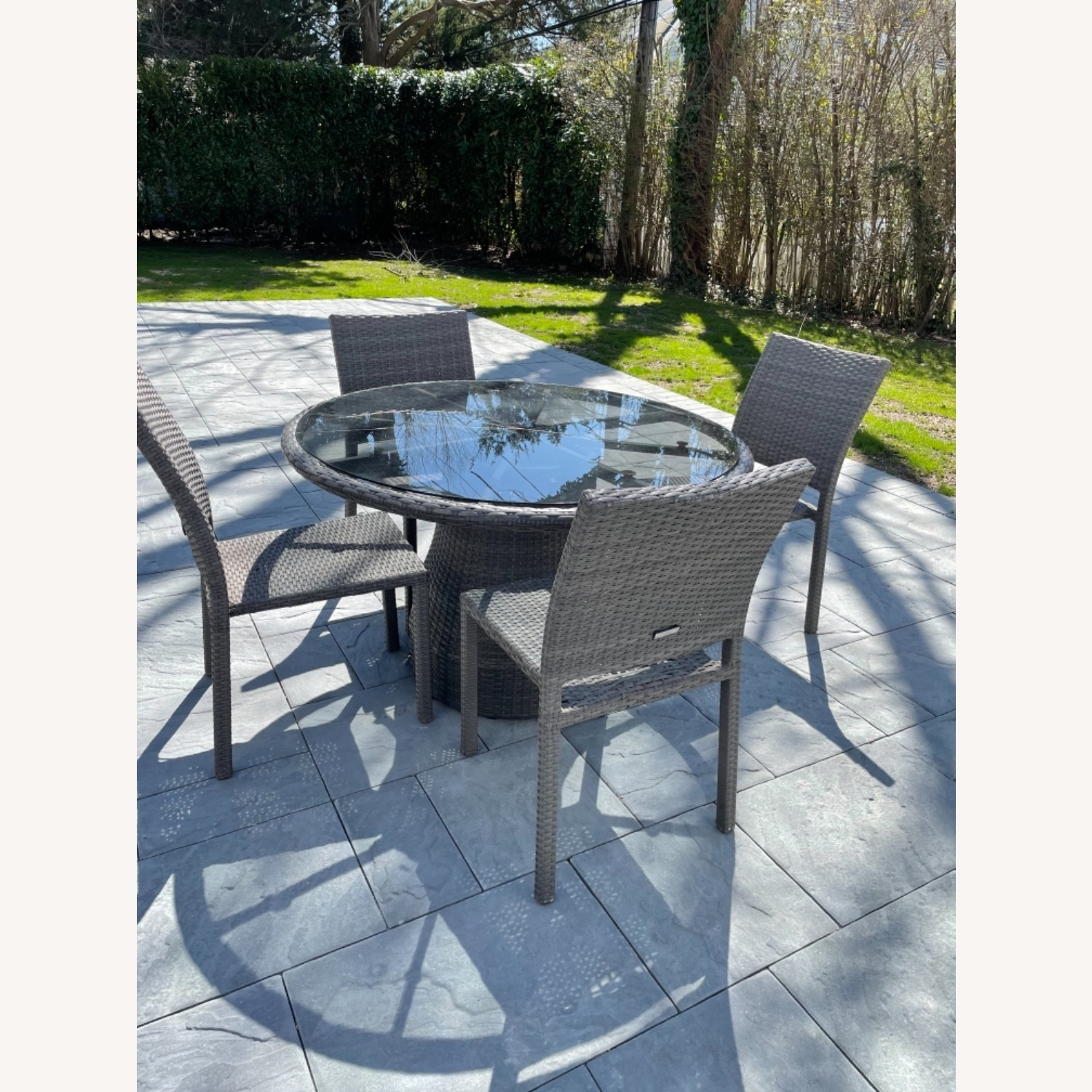 West Elm Round Outdoor Table & 4 Chairs - image-2