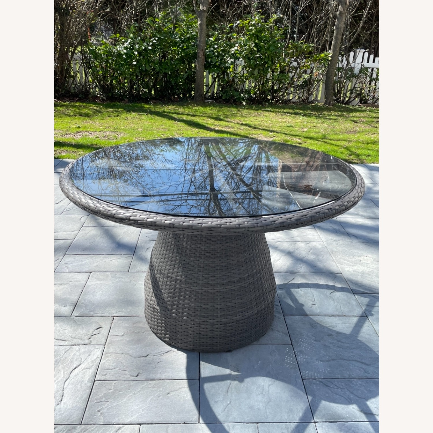 West Elm Round Outdoor Table & 4 Chairs - image-1