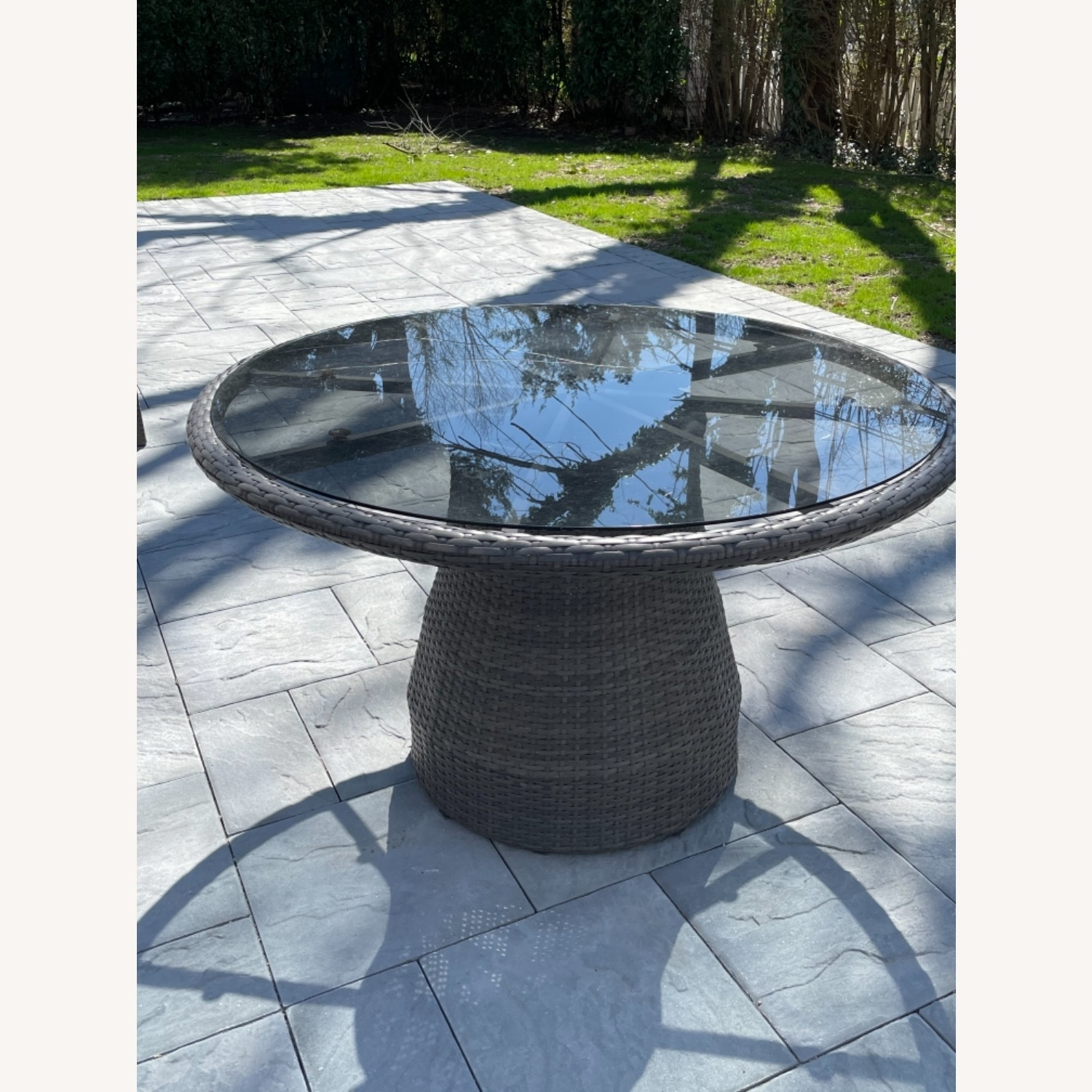 West Elm Round Outdoor Table & 4 Chairs - image-4