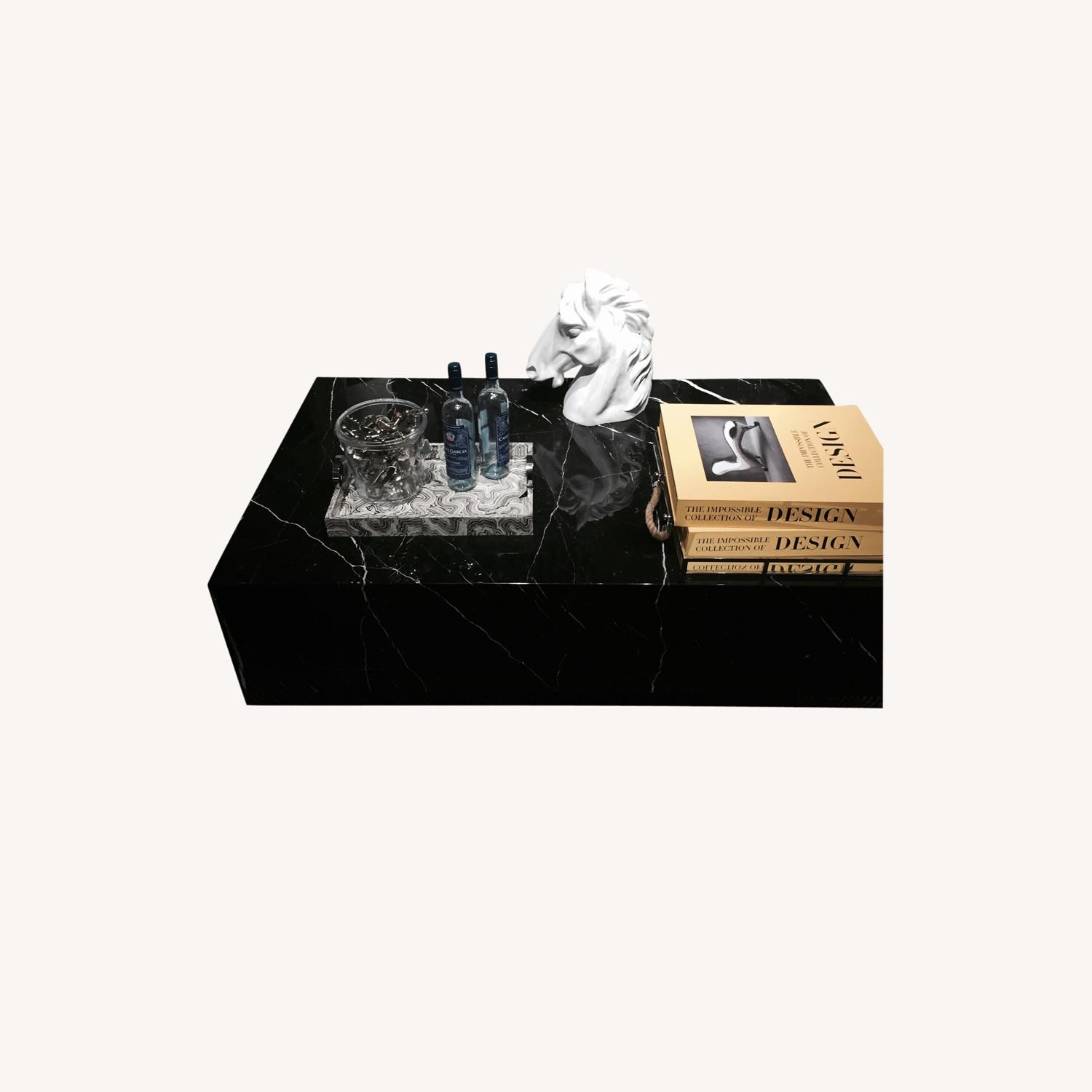 Black & White Marble Coffee Table - image-4