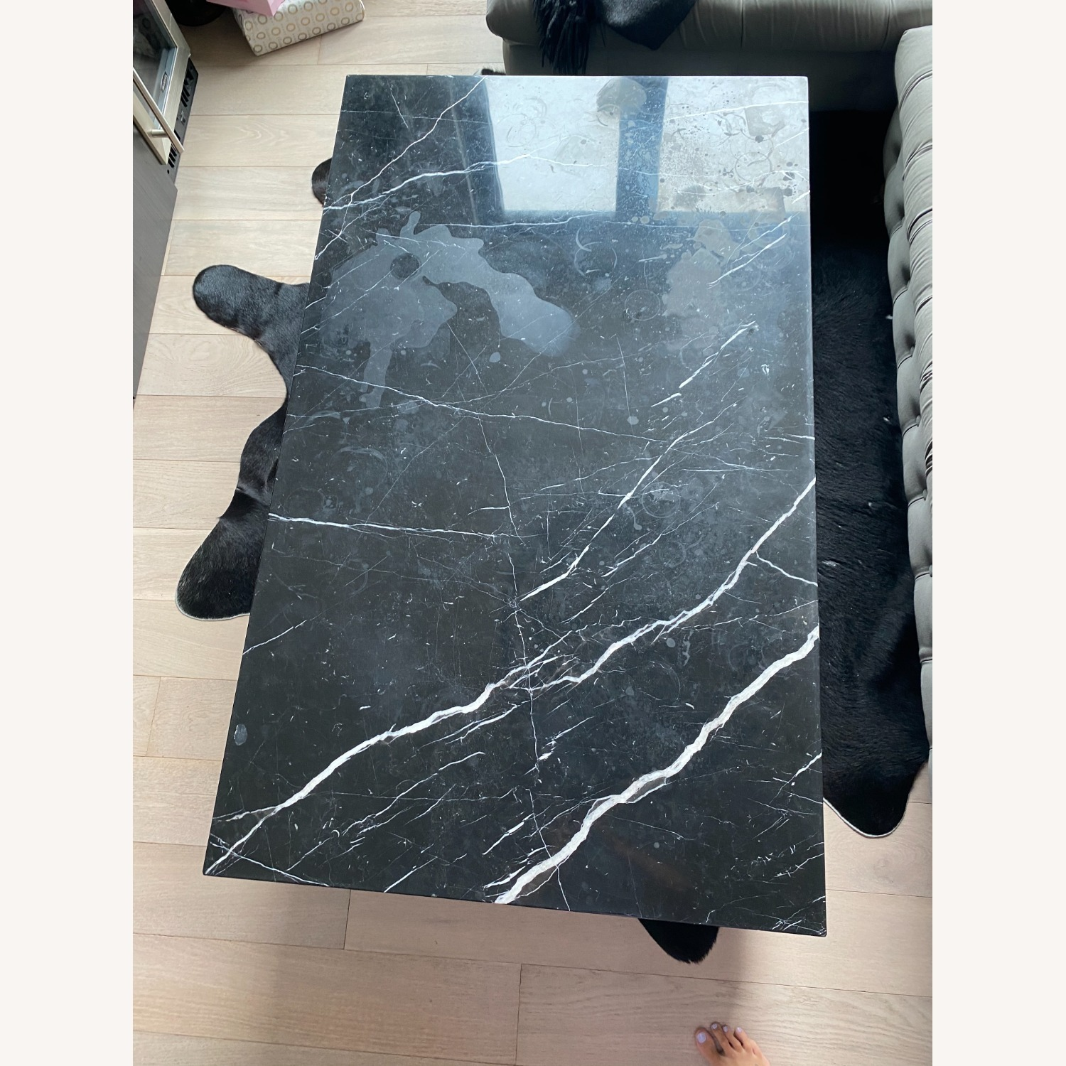 Black & White Marble Coffee Table - image-5
