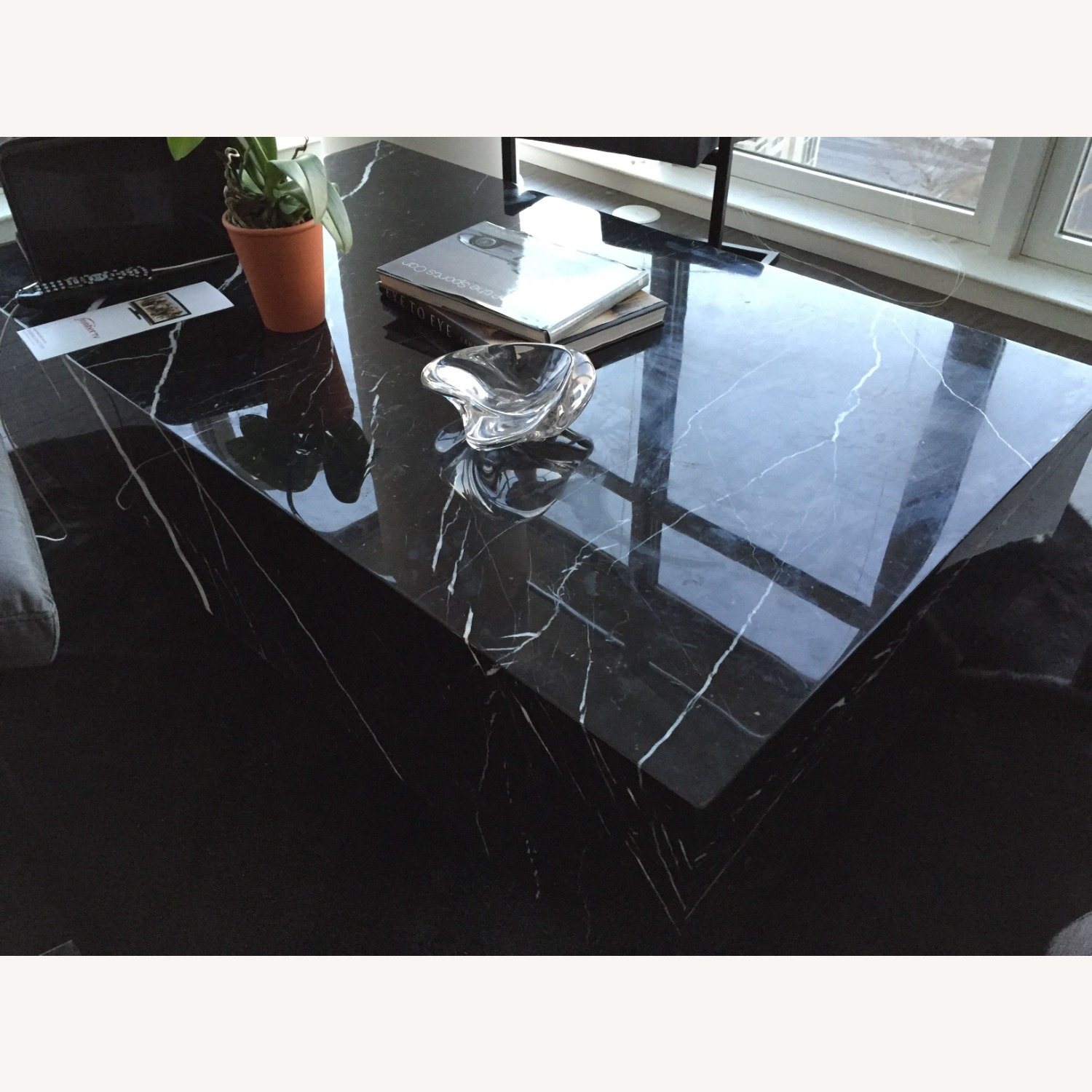 Black & White Marble Coffee Table - image-1