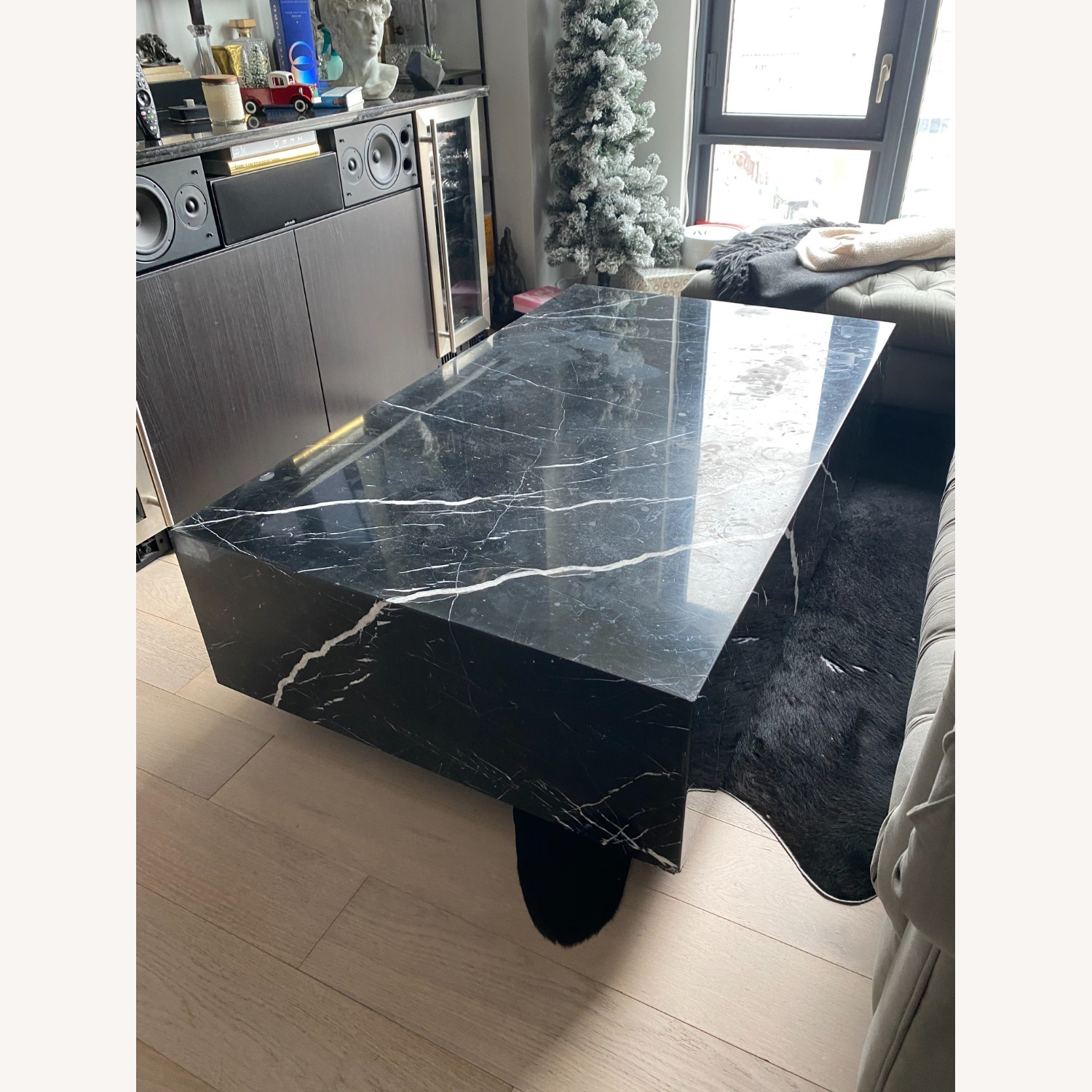 Black & White Marble Coffee Table - image-0