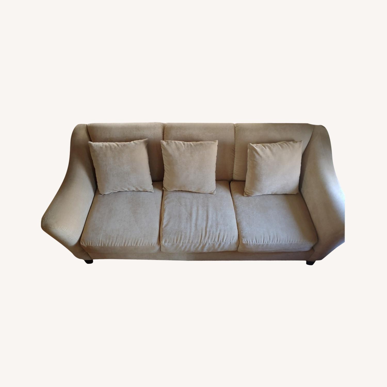 Raymour & Flanigan Cream Sofa - image-0