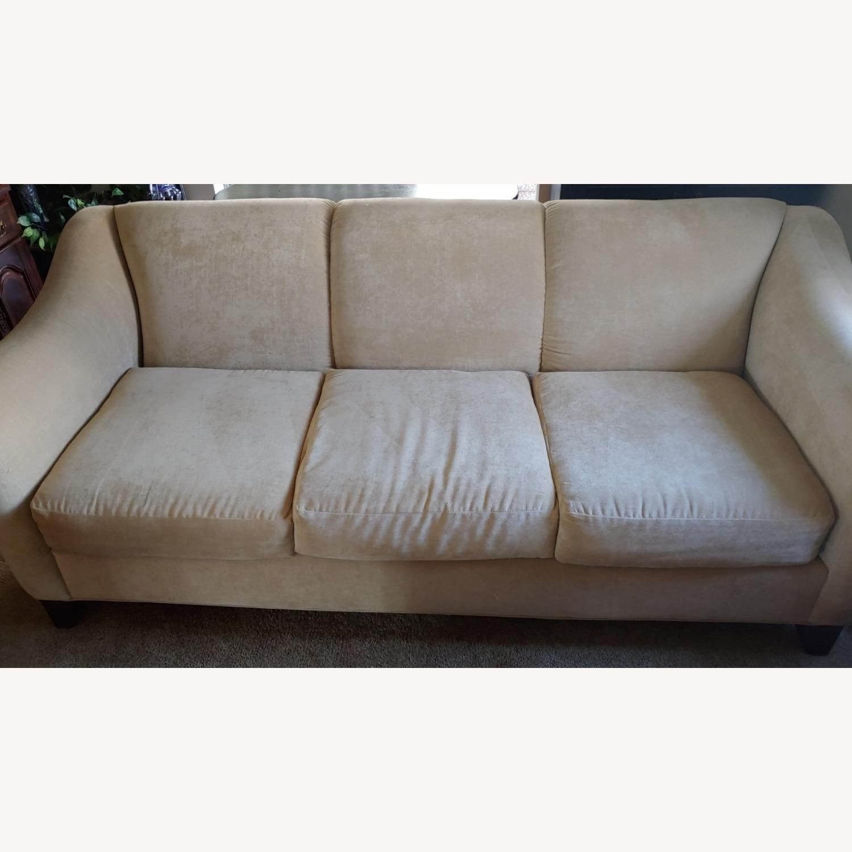 Raymour & Flanigan Cream Sofa - image-2