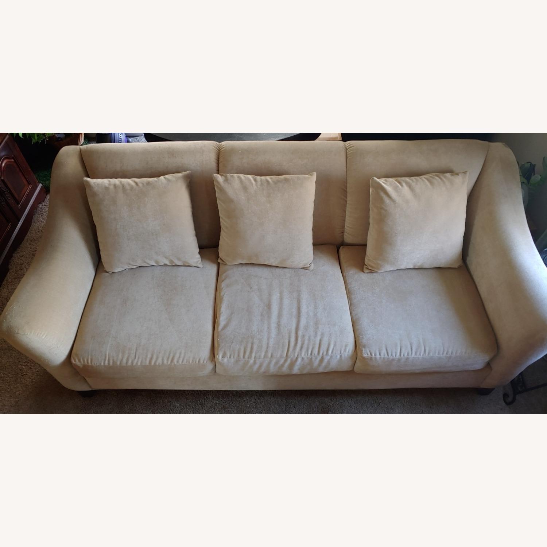Raymour & Flanigan Cream Sofa - image-1