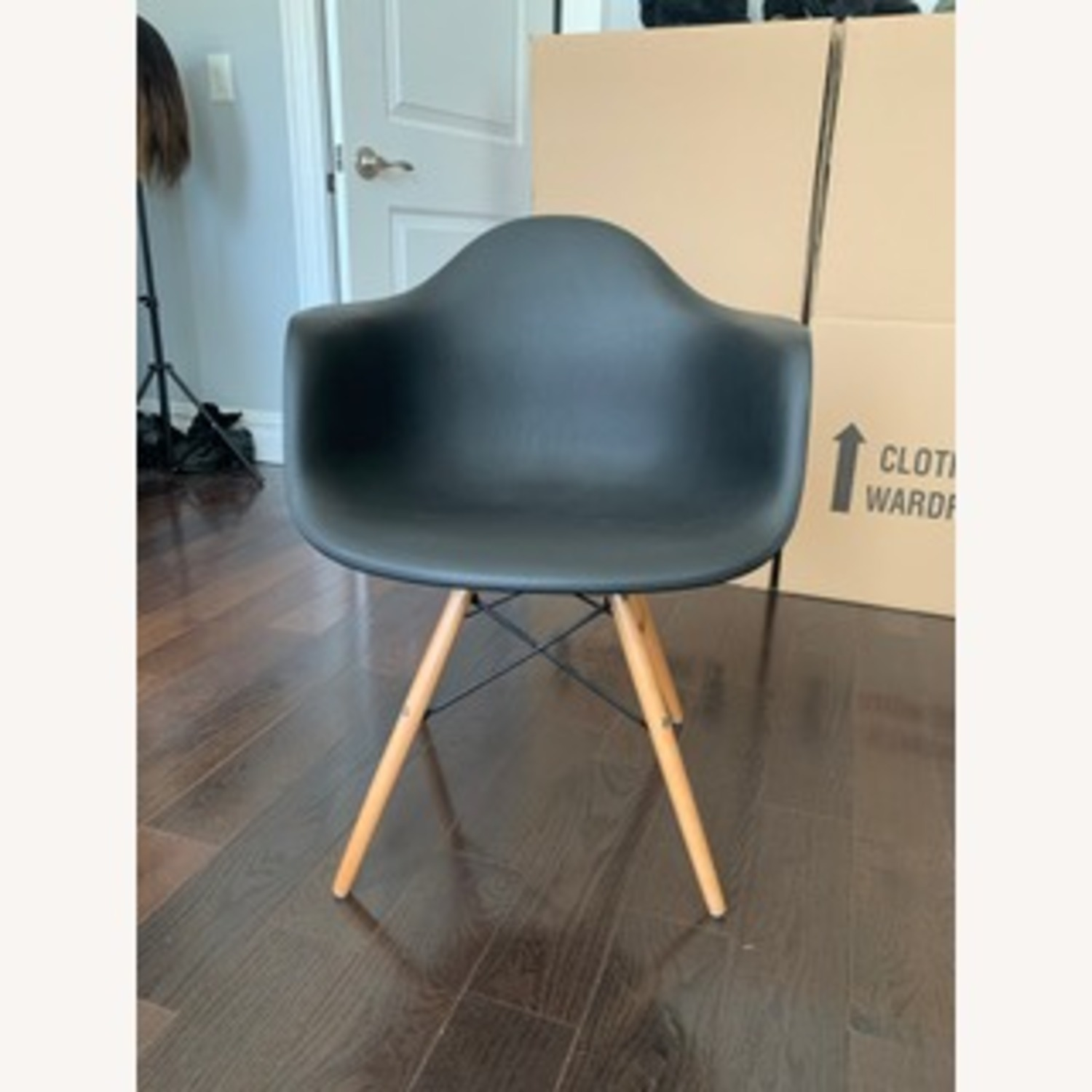 Eames DAW Molded Plastic Armchair Replica x 2 - image-1