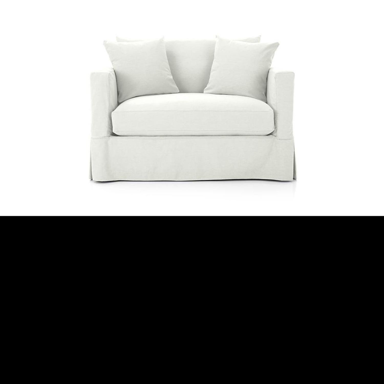 Crate & Barrel Willow White Twin Sleeper Sofa - image-2