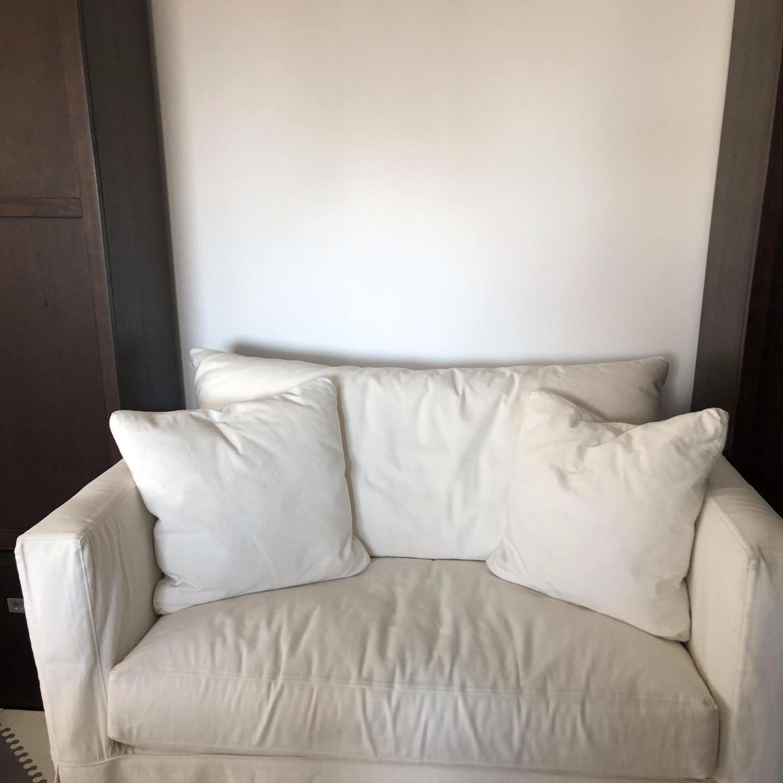 Crate & Barrel Willow White Twin Sleeper Sofa - image-1