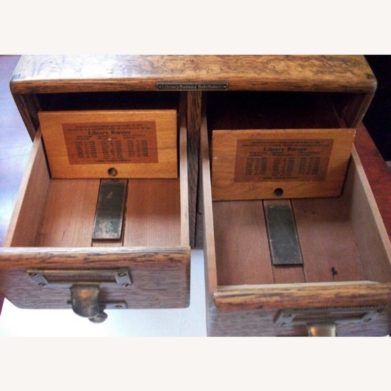 Antique 6 Drawer Library Card Catalog Circa 1890 - image-4