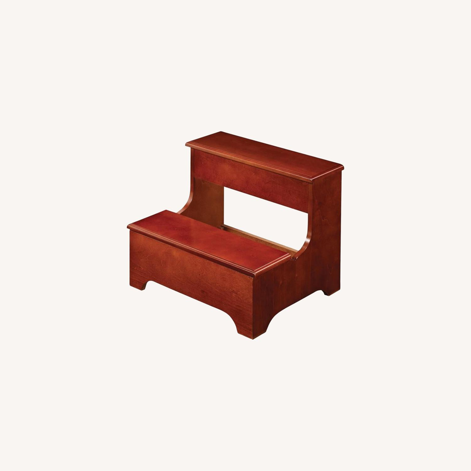Stool In Rich Warm Brown W/ Two-Tier Step - image-3