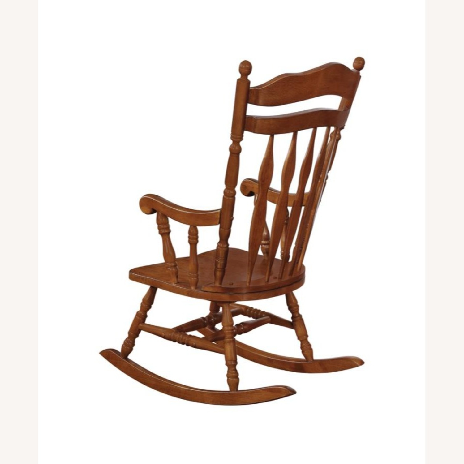 Rocking Chair In Medium Brown Rubberwood Finish - image-3