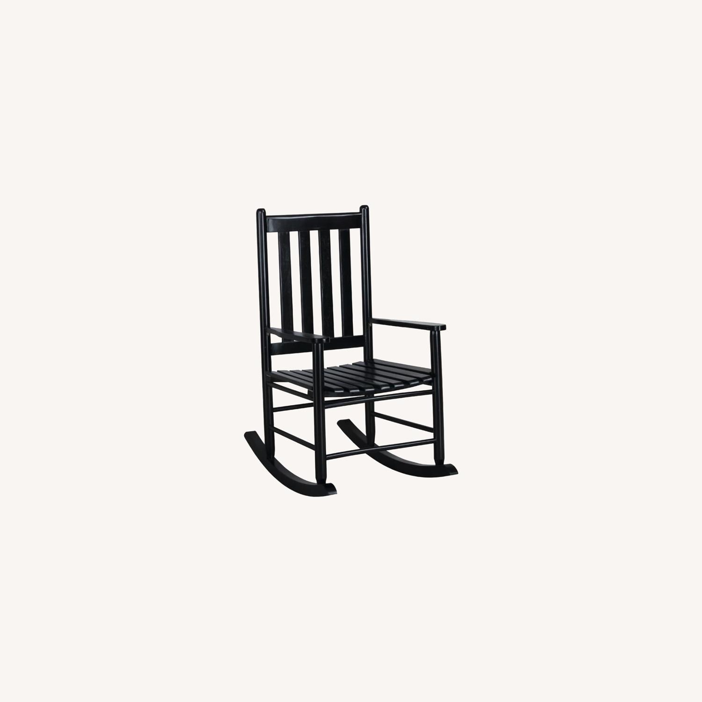 Rocking Chair In Black Acacia Wood Finish - image-3