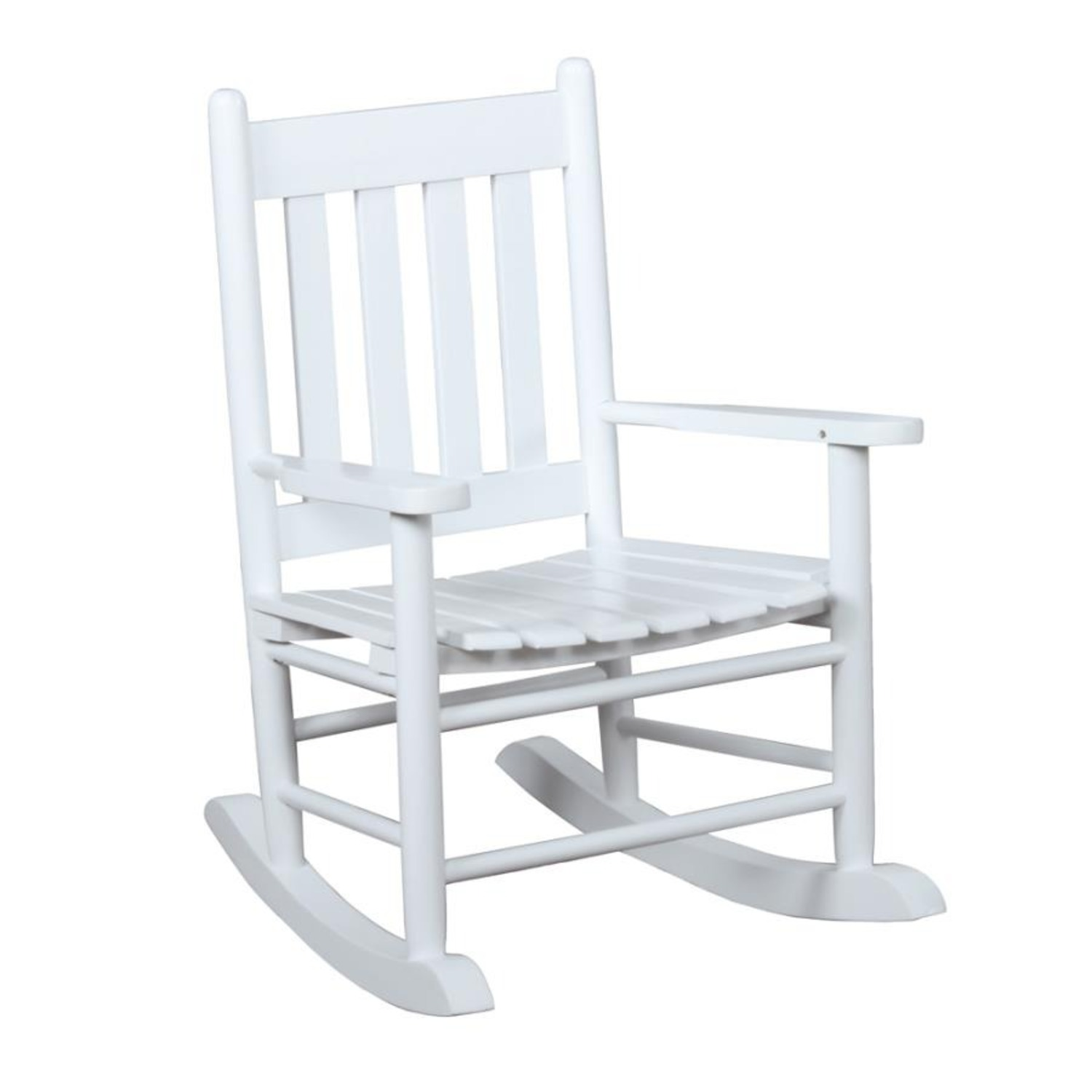 Kid's Rocking Chair In White Solid Acacia Wood - image-0