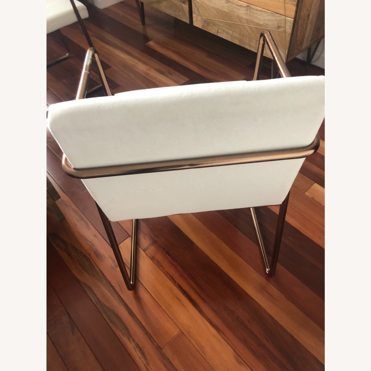 CB2 White Velvet Dining Chair - image-2