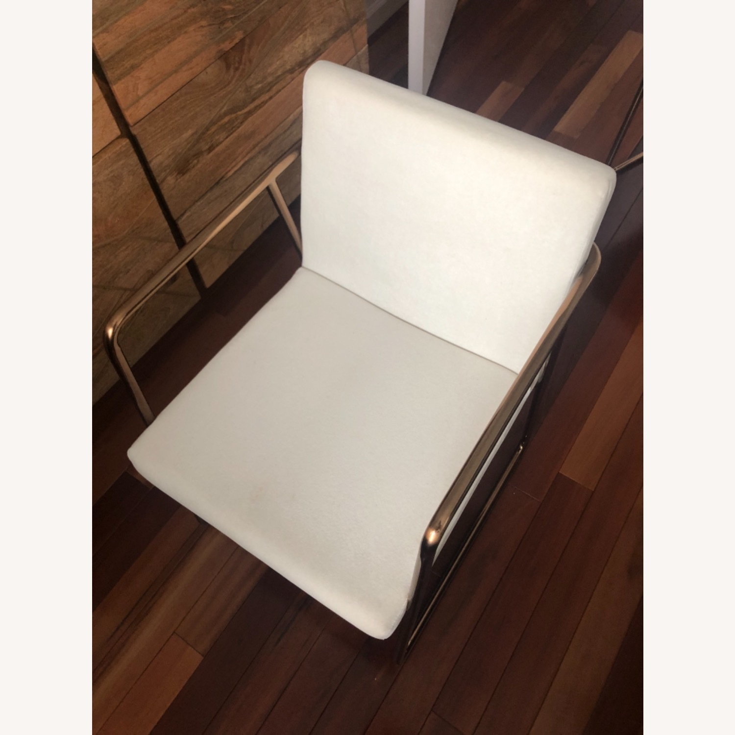 CB2 White Velvet Dining Chair - image-1