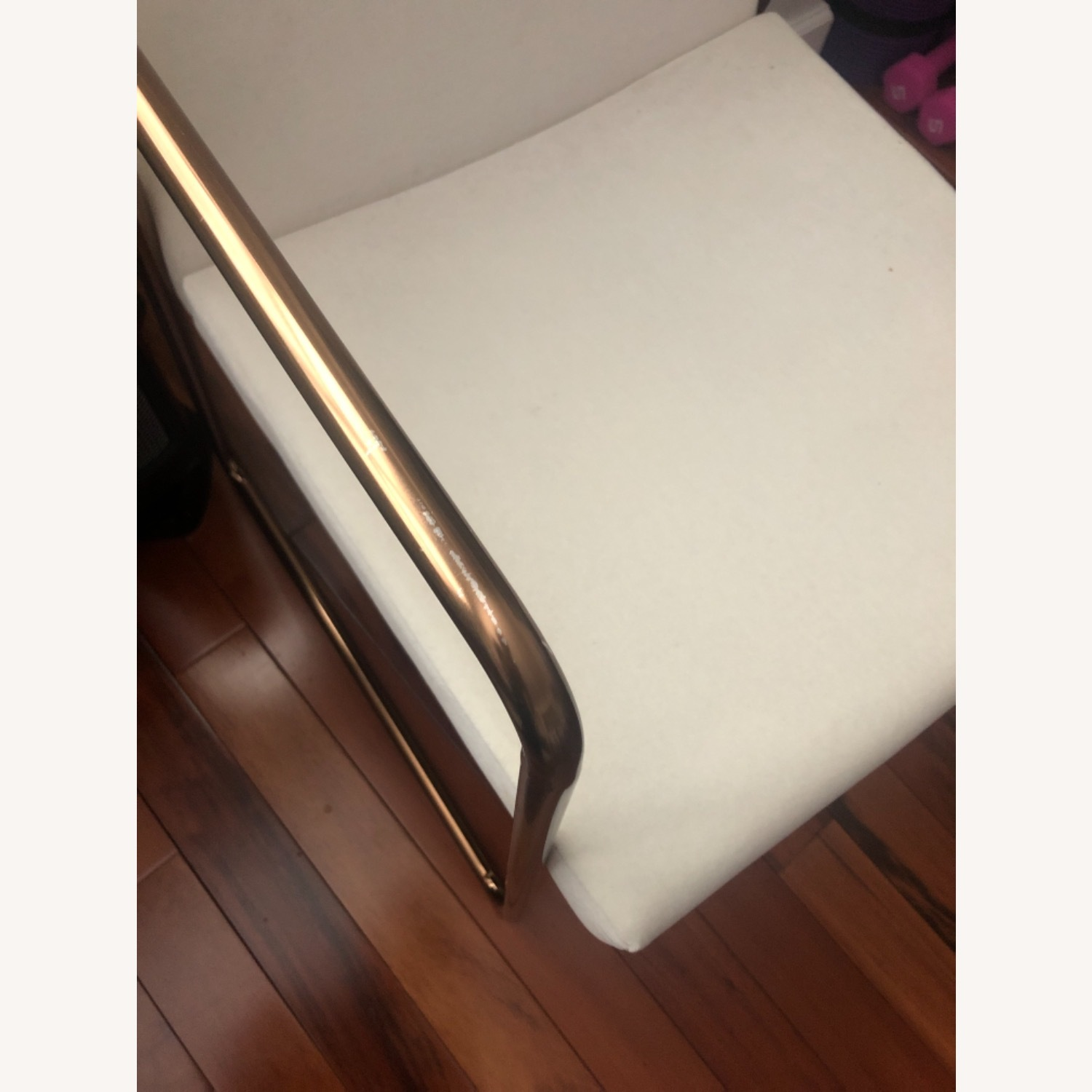 CB2 White Velvet Dining Chair - image-8