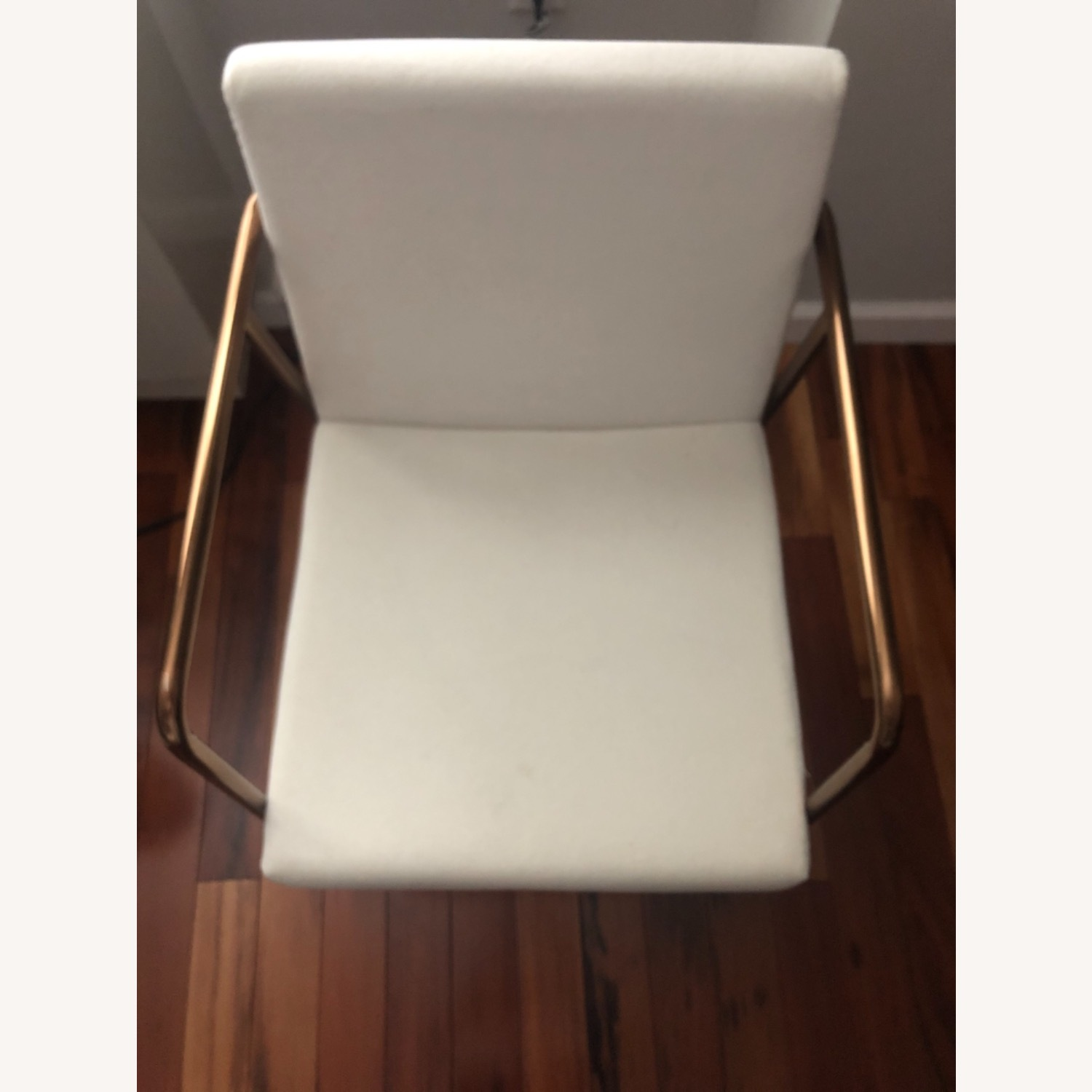 CB2 White Velvet Dining Chair - image-4