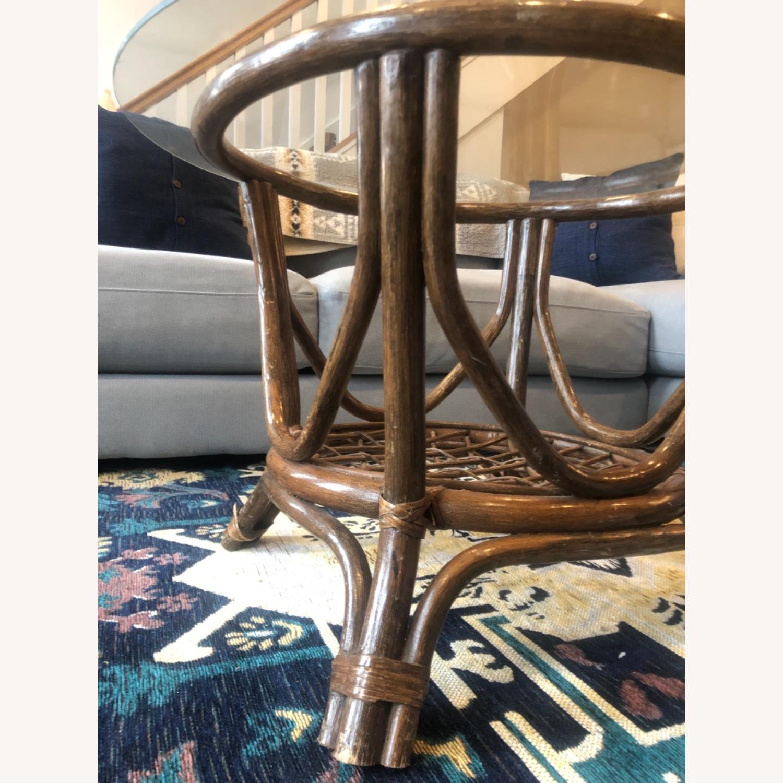 Vintage Rattan Glass Coffee Table - image-4