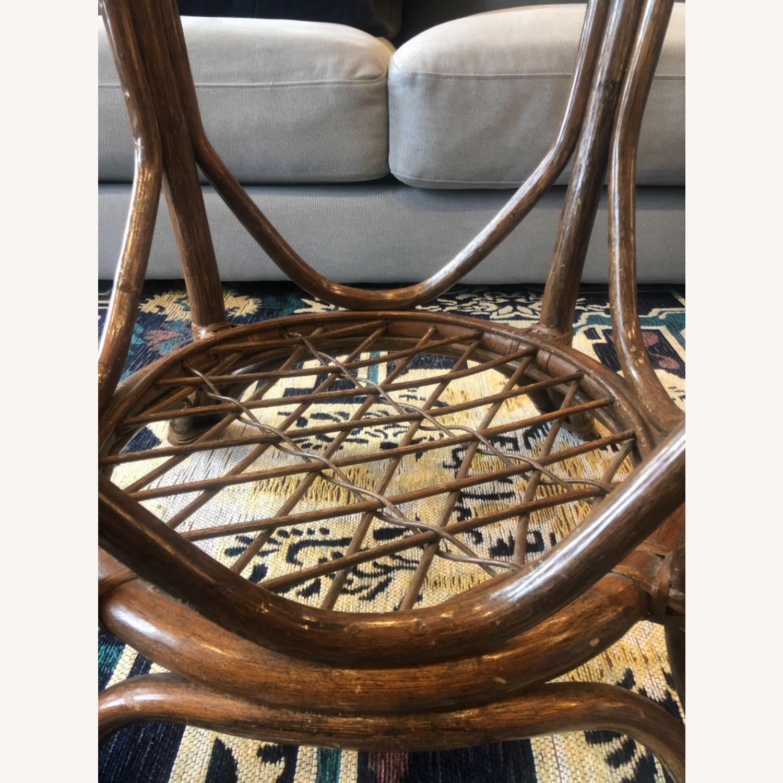 Vintage Rattan Glass Coffee Table - image-3