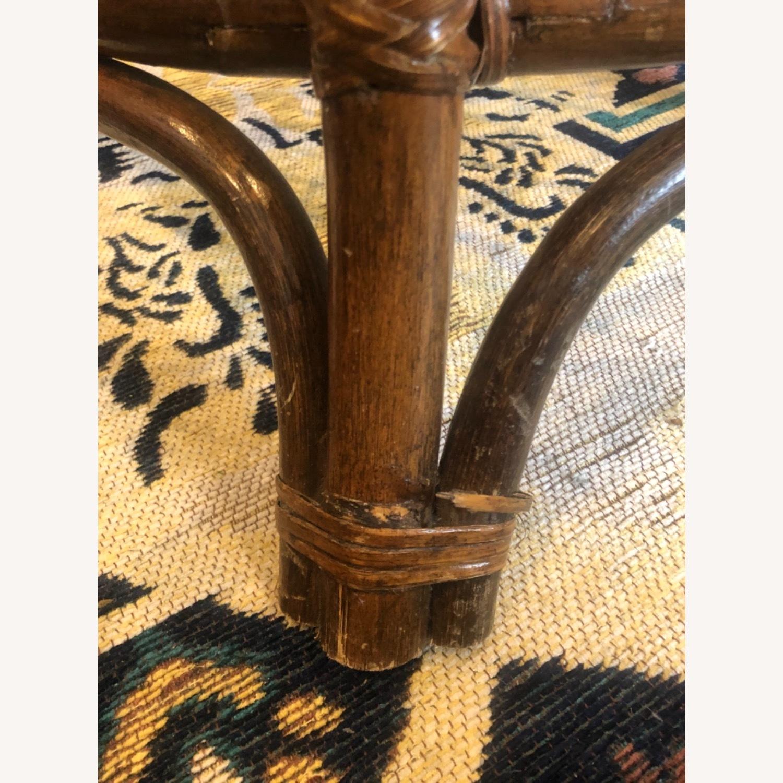 Vintage Rattan Glass Coffee Table - image-8