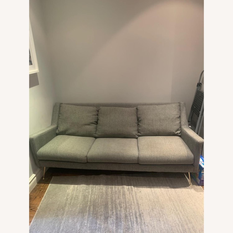 West Elm Gray Sofa - image-1
