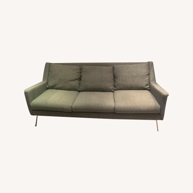 West Elm Gray Sofa - image-0