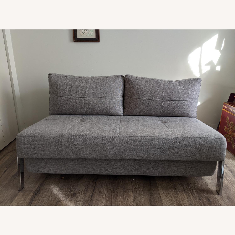 Modern Gray Innovation Living Full Size Sofa Bed - image-2